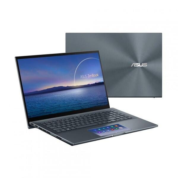 Ultrabook ASUS 15.6'' ZenBook Pro 15 UX535LI, UHD OLED Touch, Procesor Intel® Core™ i7-10870H (16M Cache, up to 5.00 GHz), 16GB DDR4, 512GB SSD, GeForce GTX 1650 Ti 4GB, Win 10 Pro, Pine Grey