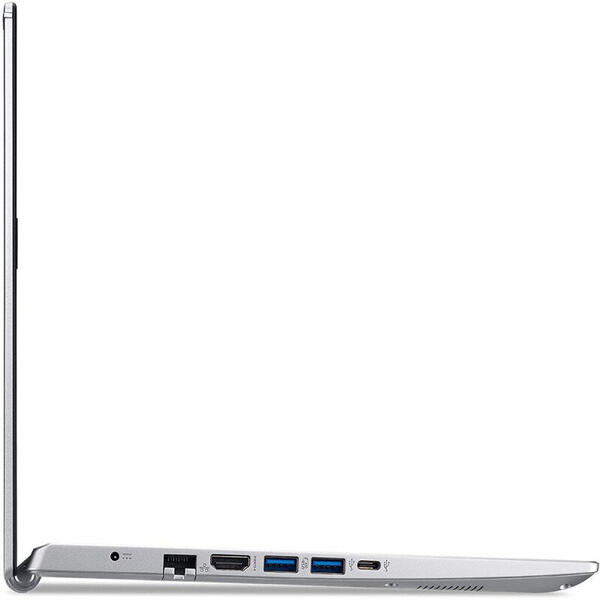 Laptop Acer 14'' Aspire 5 A514-54, FHD, Procesor Intel® Core™ i5-1135G7 (8M Cache, up to 4.20 GHz), 8GB DDR4, 256GB SSD, Intel Iris Xe, Win 10 Pro, Pure Silver