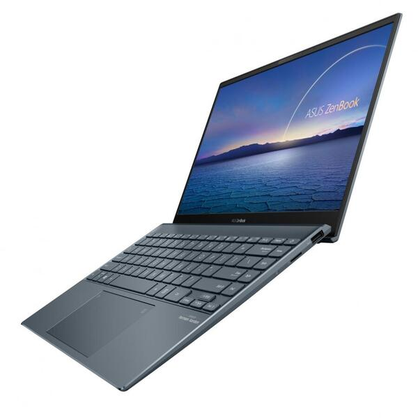 Ultrabook ASUS 13.3'' ZenBook 13 OLED UX325EA, FHD, Procesor Intel® Core™ i7-1165G7 (12M Cache, up to 4.70 GHz, with IPU), 8GB DDR4X, 512GB SSD, Intel Iris Xe, Win 10 Home, Pine Grey