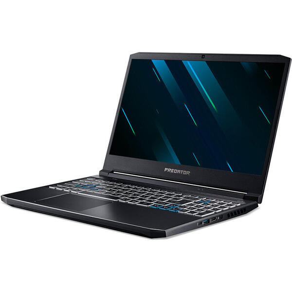 Laptop Acer Gaming 15.6'' Predator Helios 300 PH315-53, FHD IPS 144Hz, Procesor Intel® Core™ i7-10750H (12M Cache, up to 5.00 GHz), 16GB DDR4, 512GB SSD, GeForce RTX 3060 6GB, Win 10 Home, Black
