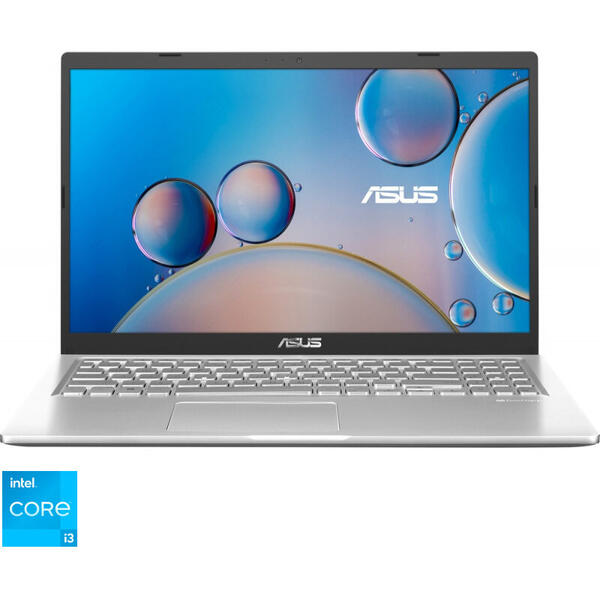 Laptop ASUS 15.6'' X515EA, FHD, Procesor Intel® Core™ i3-1115G4 (6M Cache, up to 4.10 GHz), 8GB DDR4, 256GB SSD, GMA UHD, Win 10 Home S, Transparent Silver