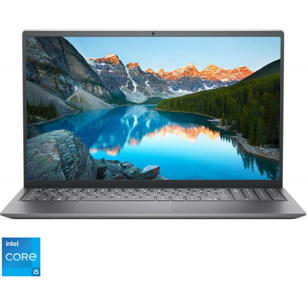 Laptop DELL 15.6'' Inspiron 5510 (seria 5000), FHD, Procesor Intel® Core™ i5-11300H (8M Cache, up to 4.40 GHz, with IPU), 8GB DDR4, 512GB SSD, GeForce MX450 2GB, Linux, Platinum Silver, 3Yr CIS