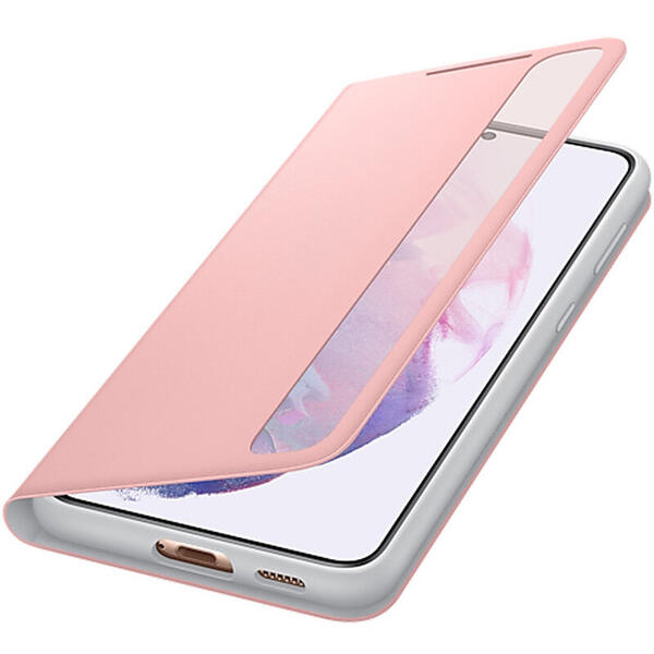 Husa Flip Cover Samsung Galaxy S21+ G996 Smart Clear View Cover (EE) Roz